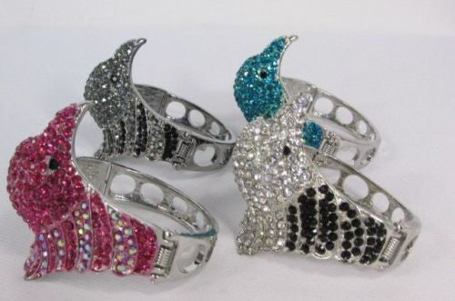 Black Blue Hot Pink Metal Cuff Bracelet Eagle Head Bird New Women Fashion Jewelry Accessories - alwaystyle4you - 15