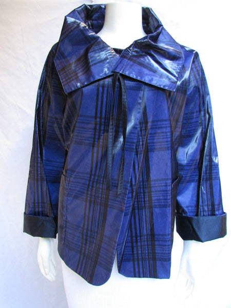 Blue Black Jacket Water Repellent Winter Coat Jacket Giorgio Armani American 8 Italian 42