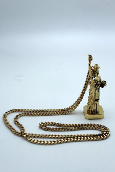 Gold Metal Body Chain Trendy New York USA Statue Of Liberty Long Necklace Women Accessories