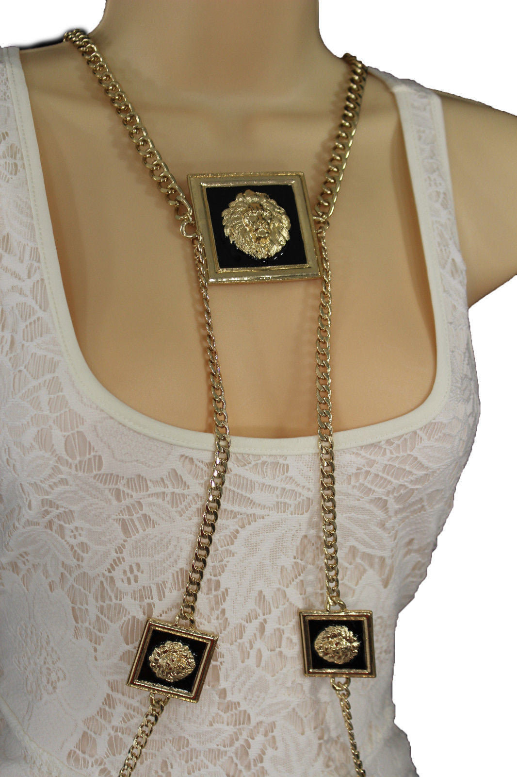 body tassel jewel link harness shoulder gold retro s products chain punk jewelry necklace