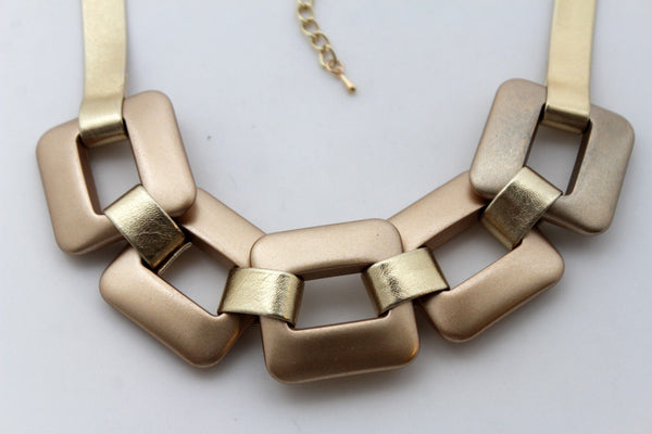 Gold Silver Chunky Chain Thick Links Short Choker Necklace New Women Fashion Jewelry Accessories