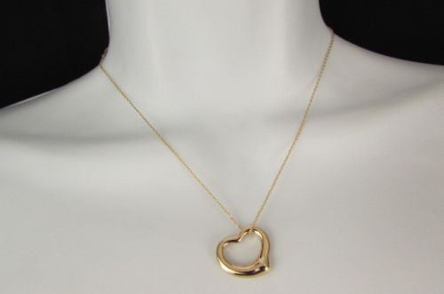 Gold Silver Metal Chain Mini Love Heart Pendant Necklace New Women Fashion Accessories