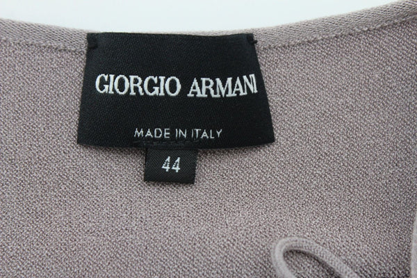 Gray Elastic Fabric Viscose Tank Top Camisole Shirt Giorgio Armani Women New Fashion Medium