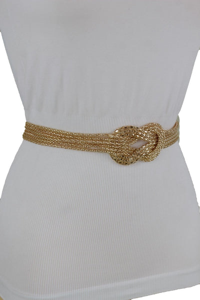 Mesh Braided Metal Hip High Waist Belt New Women Fashion Accessories Plus Size XS-XL