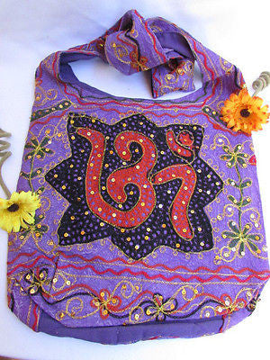 New Women Cross Body Fabric Fashion Messenger Hand India Peace Sign Purple - alwaystyle4you - 31