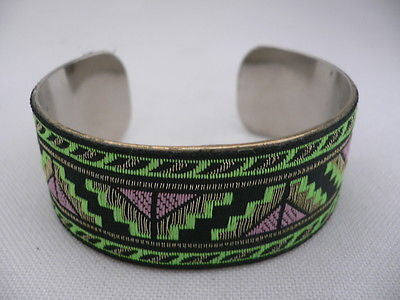 Gold Metal Cuff African Drawing Bracelet Green Color Adjustable New Women Fashion Jewelry Accessories - alwaystyle4you - 2