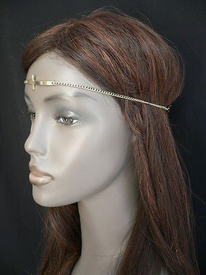 Latest Women Silver Metal Cross Head Band Chain Celebrity Circlet Sexy Jewelry - alwaystyle4you - 7
