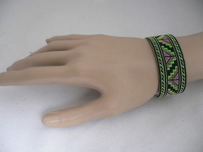 Gold Metal Cuff African Drawing Bracelet Green Color Adjustable New Women Fashion Jewelry Accessories - alwaystyle4you - 3
