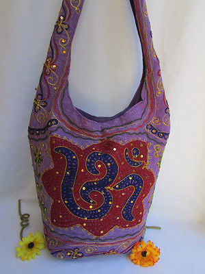 New Women Cross Body Fabric Fashion Messenger Hand India Peace Sign Purple - alwaystyle4you - 50