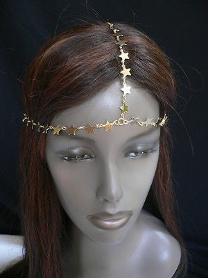 Women Gold Trendy Multi Stars Head Chain Grecian Circlet Fashion Jewelry - alwaystyle4you - 7