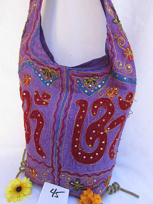 New Women Cross Body Fabric Fashion Messenger Hand India Peace Sign Purple - alwaystyle4you - 43