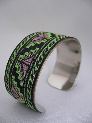 Gold Metal Cuff African Drawing Bracelet Green Color Adjustable New Women Fashion Jewelry Accessories - alwaystyle4you - 5