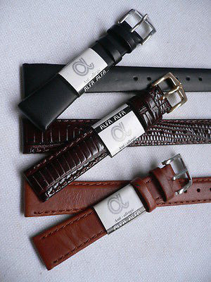 New Men Women 3 Watch Band Set Genuine Leather Anti Allergy Casual Dressy Black Light Brown Fashion Accessory 14 Mm - alwaystyle4you - 5