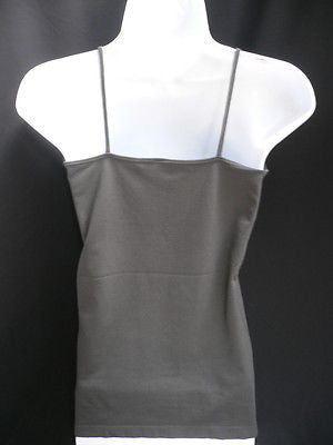 New Women Charcoal Basic Tank Top Sexy Camisole Spaghetti Straps Plus Size Medium Large - alwaystyle4you - 12