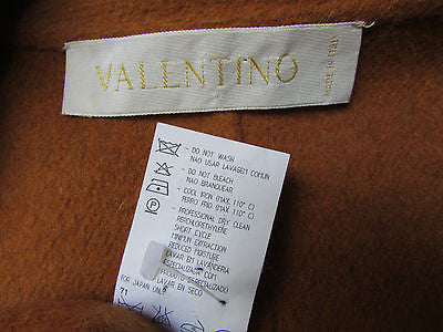 Valentino Women Camel Wool Angora Short Army Jacket Militery Multi Buttons 46/12 - alwaystyle4you - 4
