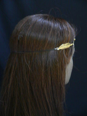 New Women Big Gold Metal Leaf Head Chain Band Fashion Jewelry Grecian Headband - alwaystyle4you - 11