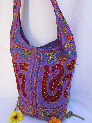 New Women Cross Body Fabric Fashion Messenger Hand India Peace Sign Purple - alwaystyle4you - 45
