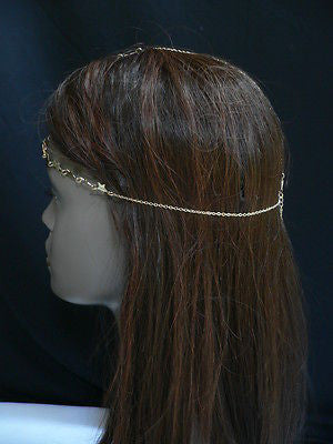 Women Gold Trendy Multi Stars Head Chain Grecian Circlet Fashion Jewelry - alwaystyle4you - 9