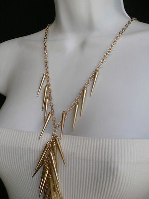 Women Gold Long Spikes Long Body Chain Fashion Trendy Fashion Jewerly Style - alwaystyle4you - 10
