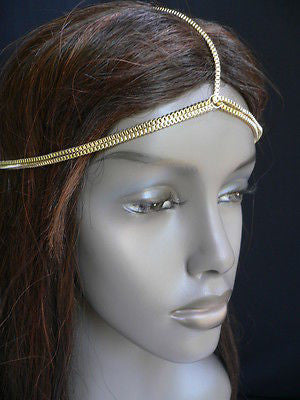 New Women Classic Gold Head Body Thin Chain Fashion Jewelry Grecian Circlet - alwaystyle4you - 8