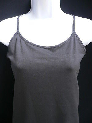 New Women Charcoal Basic Tank Top Sexy Camisole Spaghetti Straps Plus Size Medium Large - alwaystyle4you - 3