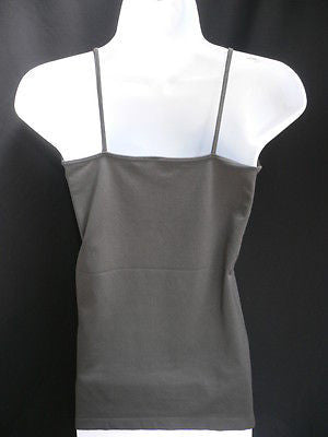 New Women Charcoal Basic Tank Top Sexy Camisole Spaghetti Straps Plus Size Medium Large - alwaystyle4you - 9
