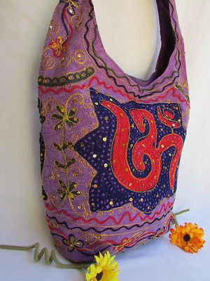 New Women Cross Body Fabric Fashion Messenger Hand India Peace Sign Purple - alwaystyle4you - 15