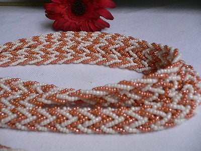 New Women Tie Multy Chains Fashion Long Necklace Coral White Beads Braided Desig - alwaystyle4you - 5