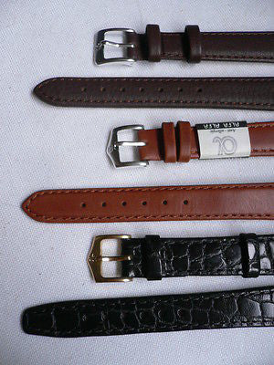 New Men Women 3 Watch Band Set Genuine Leather Crocodile Solid Anti Allergy Casual Elegant Black Dark Light Brown Fashion Jewelry 14 Mm - alwaystyle4you - 10