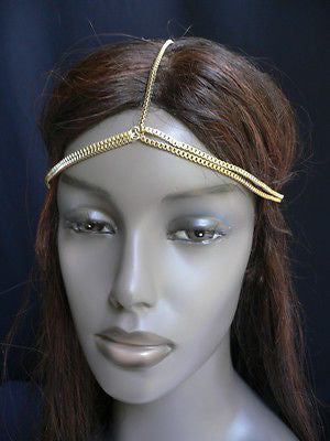 New Women Classic Gold Head Body Thin Chain Fashion Jewelry Grecian Circlet - alwaystyle4you - 4