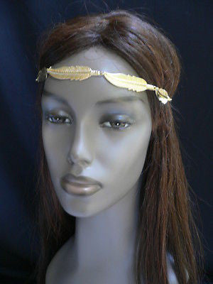 New Women Big Gold Metal Leaf Head Chain Band Fashion Jewelry Grecian Headband - alwaystyle4you - 9