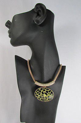 "Gold Trendy Chain Big Leopard Pendant Necklace + Earrings Set New Women Fashion 9"" - alwaystyle4you - 12"