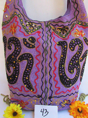 New Women Cross Body Fabric Fashion Messenger Hand India Peace Sign Purple - alwaystyle4you - 18