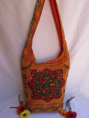 New Women Cross Body Fabric Fashion Messenger Hand India Sign Green Orange Brown - alwaystyle4you - 78