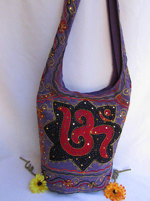 New Women Cross Body Fabric Fashion Messenger Hand India Peace Sign Purple - alwaystyle4you - 69
