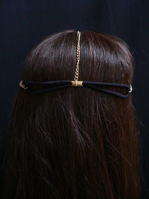 New Women Gold Head Chain Spikes Fashion Jewelry Rhinestones Circlet Headband - alwaystyle4you - 3