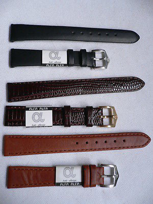 New Men Women 3 Watch Band Set Genuine Leather Anti Allergy Casual Dressy Black Light Brown Fashion Accessory 14 Mm - alwaystyle4you - 1