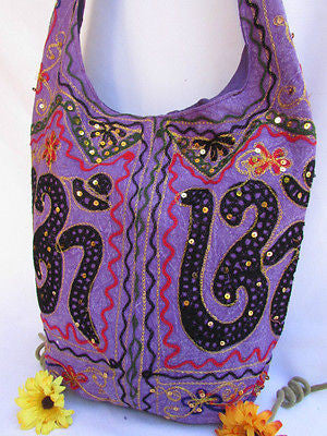 New Women Cross Body Fabric Fashion Messenger Hand India Peace Sign Purple - alwaystyle4you - 21