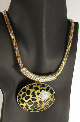 "Gold Trendy Chain Big Leopard Pendant Necklace + Earrings Set New Women Fashion 9"" - alwaystyle4you - 1"
