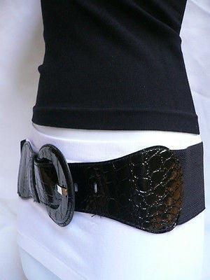 New Women Hip High Waist Stretch Wide Black Fashion Belt Plus Sizes: M L Xl - alwaystyle4you - 7