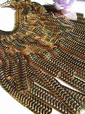 "Dressy Casual Wide Multi Strand Gold / Silver Links Chains Wide Metal New Women Necklace 20"" - alwaystyle4you - 11"
