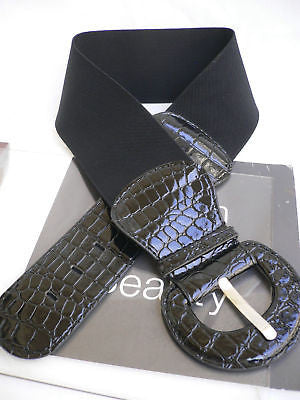 New Women Hip High Waist Stretch Wide Black Fashion Belt Plus Sizes: M L Xl - alwaystyle4you - 1