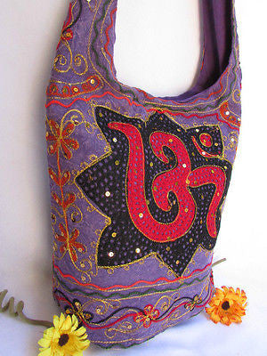New Women Cross Body Fabric Fashion Messenger Hand India Peace Sign Purple - alwaystyle4you - 68