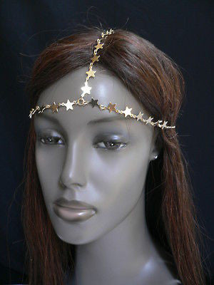 Women Gold Trendy Multi Stars Head Chain Grecian Circlet Fashion Jewelry - alwaystyle4you - 12