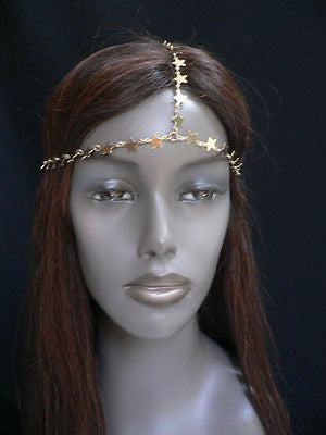 Women Gold Trendy Multi Stars Head Chain Grecian Circlet Fashion Jewelry - alwaystyle4you - 3