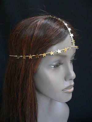 Women Gold Trendy Multi Stars Head Chain Grecian Circlet Fashion Jewelry - alwaystyle4you - 5