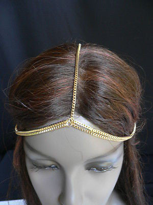 New Women Classic Gold Head Body Thin Chain Fashion Jewelry Grecian Circlet