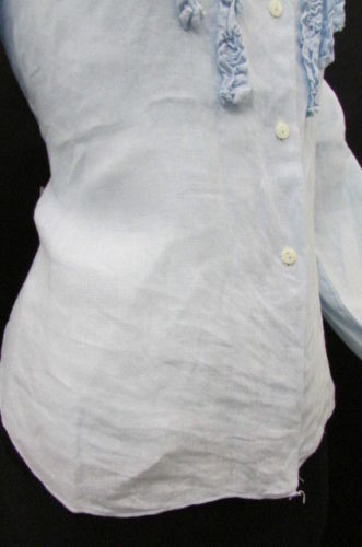 Light Blue Linen Button Down Shirt Taboo Basic One Classic Fashion Blouse New Women Size Medium