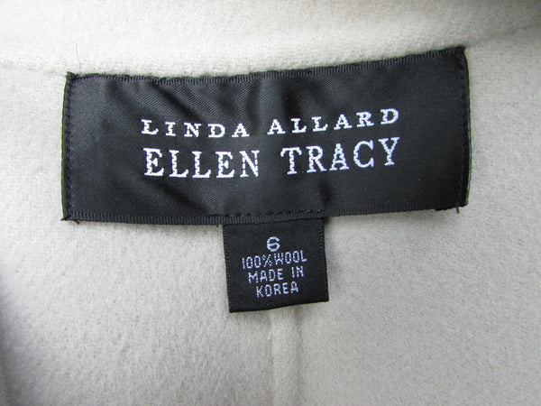 Beige Wool Coat Long Winter Coat Jacket Linda Allard Ellen Tracy Women New Fashion Size 6  40