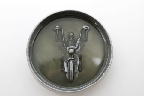 Belt Buckle Silver Metal Grey Skeleton Skull Motorcycle Biker Bones Men Women Accessories